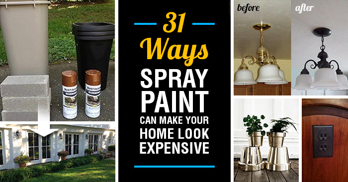 31 ways spray paint can make your home and furnishings look more. Black Bedroom Furniture Sets. Home Design Ideas