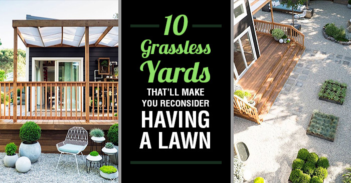 10 Grassless Yards So Gorgeous, You'll Reconsider Having A ... on Grassless Garden Ideas id=57659